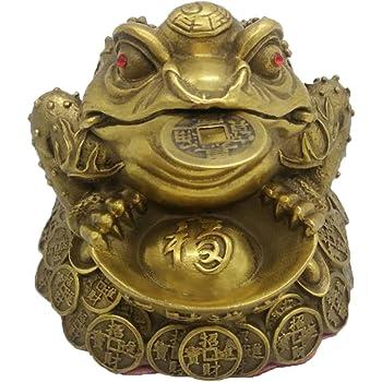 vieux seaside sparrow feng shui laiton l 39 argent grenouille statue richesse crapaud sculptures. Black Bedroom Furniture Sets. Home Design Ideas