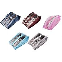 ZARRS Scarpe Borse per Viaggiare,5 Pack Leggero Grande Organizzatore di Scarpe Uomini Impermeabile Shoe Bags per Viaggio…