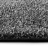 casa pura Shaggy Teppich Bali | Weicher Hochflor Teppich für Wohnzimmer, Schlafzimmer und Kinderzimmer | mit GUT-Siegel | Verschiedene Größen | viele Moderne Farben (160 x 160 cm, anthrazit)