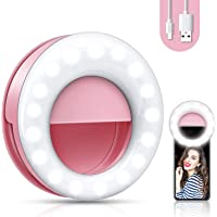 【2020 upgrade】 Selfie light, mobile phone ring light, mobile phone selfie light, live light for beautiful photos ...