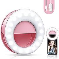【2020 upgrade】 Selfie light, mobile phone ring light, mobile phone selfie light, live light for beautiful photos ...