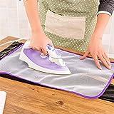 Gamuza de 3pcs almohadillas de planchado Rejilla Protectora Resistente al calor Dealglad® Ropa de planchado abrasivo aislamiento Alfombrilla protectora de guardia (Random Color)