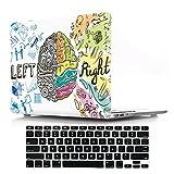 DIGIC MacBook Retina 13' Case with Keyboard Cover, Hard Plastic Cover Case with Keyboard Protector for MacBook Retina Display PRO 13.3 inch (A1502/A1425),Intelligent Brain