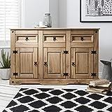 Corona Mexican Pine Large Sideboard | 3 Drawers & 3 Doors | Rustic Design