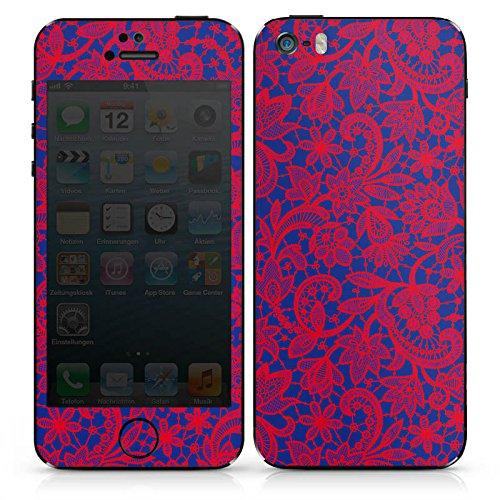 Apple iPhone 4s Case Skin Sticker aus Vinyl-Folie Aufkleber Flower Muster Abstrakt DesignSkins® glänzend
