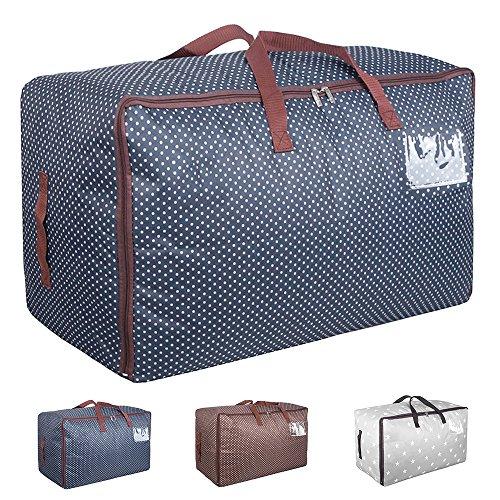 Aufbewahrungstasche für Bettdecken Tasche Verstauen Kissen Tragetasche für Bettzeug oder Matratzenauflagen Reißverschluss-Box Oxford 70x42x35cm(Blau) (Bettdecke Bett-tasche)