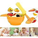 INTVN Ciotola per Smerigliatrice per Bambini, 2pcs Schiacciapatate Manuale multifunzione, macinare gli alimenti Ciotola…