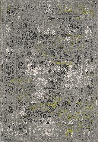 TALETA Vineyard Collection Moderne/Traditionelle Design Vier Saison Multi Farbe/Colorful Türkei Bereich Teppich, 20Stil, 4Größe, Vin17 Gray, 80x150cm -