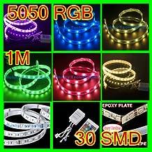 1M RGB 5050 SMD Lampadina Impermeabile 30 LED Tubo Neon +24 Key IR Controller 12V Auto LD48