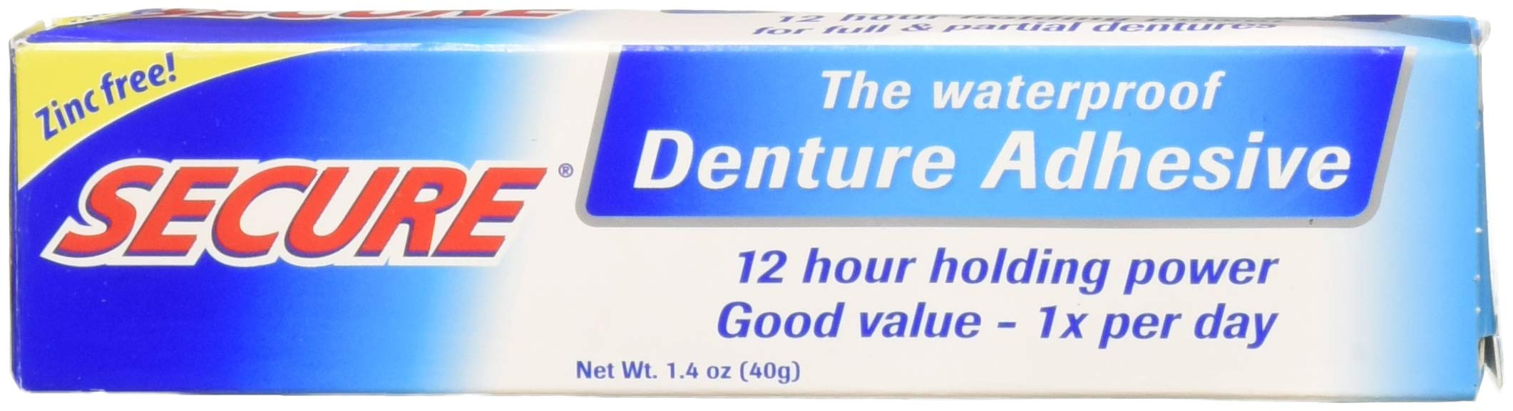 Secure Denture Adhesive >> Secure Denture Adhesive 40g