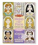 #9: Melissa & Doug Make-a-Face Sticker Pad - Sparkling Princesses, Multi Color