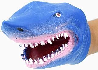 TOYMYTOY Haifisch-Handmarionetten-Spielzeug - Realistische Stützen täuschen Spiel vor, blau