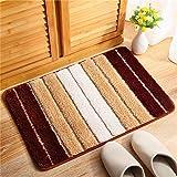 GLP Fußmatte Antirutsche Teppich für Eingang/Living/Bedroom Pad Saugfähige schnell trocknende Teppich Faser Fuß/Boden/Outdoor-Matten (Color : E, Size : 50 * 80cm)