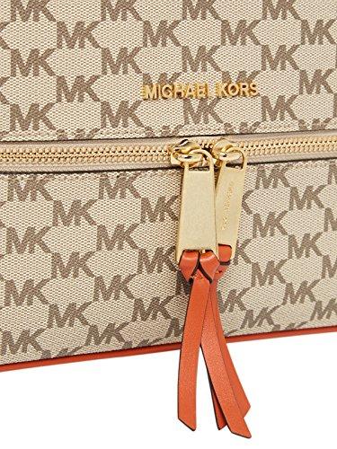 Sac à Dos De Michael Kors Rhea Bagages Naturelle Enduit Toile Beige Fabric