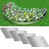 Set 20Zäune Beeteinfassung Flexible Stahl verzinkt 100x 15cm
