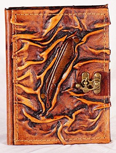 Vintage Notizbuch aus Leder   Feder   Handarbeit   Braun   Größe S - ca. DIN A6   240 Seiten   Notebook   Tagebuch   Gästebuch   Reisetagebuch   Skizzenbuch   Geschenk  
