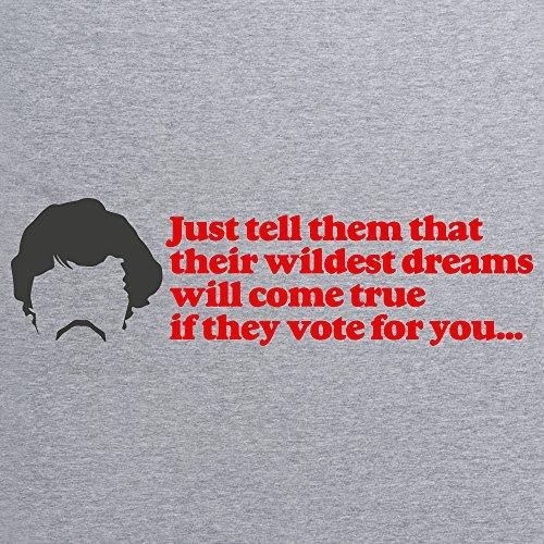 Inspired By Napoleon Dynamite - Wildest Dreams T-Shirt, Herren Grau Meliert