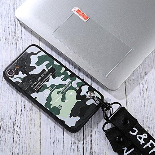Für iPhone 4,7 Zoll Fall, Für iPhone 8 & 7 Full Coverage Red Love Herz Muster schützende Rückseite Fall mit gehärtetem Glas Film & Lanyard (4,7 Zoll) ( SKU : Ip8f3517k )