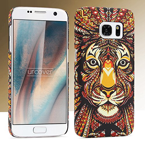 URCOVER Coque Tribal avec Dessin d' Animaux | Cover Apple iPhone 7 | Back Case Rigide et Fin | Loup | Housse Motif Colorée Fantaisie Multicolore Tiger
