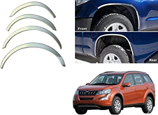 Autopearl Wheel Arches Fender Trim Wheel Arch Tuning Chrome Set Of 4Pcs For Mahindra Xuv 500 2015
