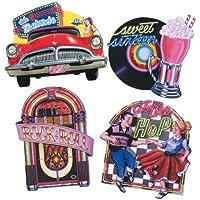 Fabulous 50 's Pk4 50th Birthday Party Cutouts decorazioni Favors-Tovaglioli da tavola & etc...