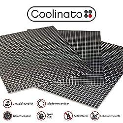 Coolinato® 3 Hochwertige Silikon Backmatten (38x30cm) - rutschfeste Dauerbackfolie für Backofen | Umweltfreundlich und Spülmaschinenfest | auch als Backunterlage und Teigunterlage verwendbar...