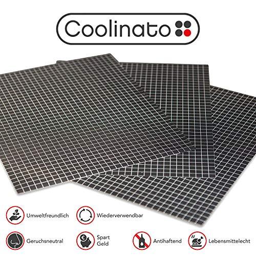 Coolinato® 3 Hochwertige Silikon Backmatten (38x30cm) - rutschfeste Dauerbackfolie für Backofen   Umweltfreundlich und Spülmaschinenfest   auch als Backunterlage und Teigunterlage verwendbar...