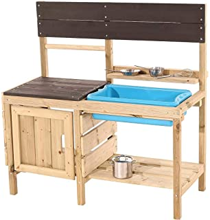 SUN Matschküche / Outdoor-Küche aus Holz - Kinderküche aus Holz ...