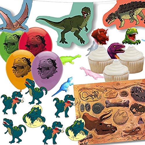 Juego de 107-Juego de decoración * * dinosaurios para fiestas de cumpleaños...