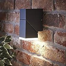 Biard Aplique Ziersdorf 8W LED IP54 Interior Exterior Orientable Cuadrado Negro – Jardín Baño Resistente al