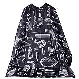 Rcool Vestidos De Peluquería Peluquería Diseño De Corte Estilista Peluquero Del Cabo De Paño - Capa para Hombres y mujeres (medium, estilo J (120x150cm))