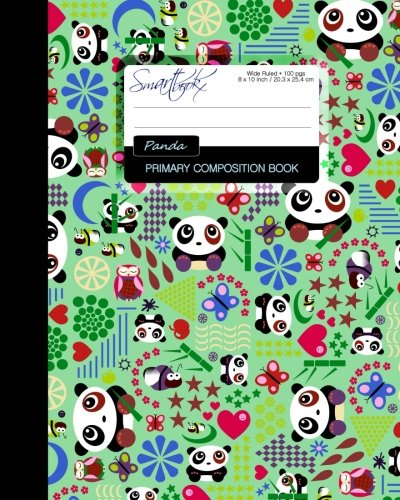 Primary Composition Book: Kids School Exercise Book with Pandas, Butterflies & Owls [ Times Tables * Wide Ruled * Large Notebook * Color  * Perfect Bound ] (Primary Composition Books : Kids 'n' Teens)