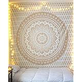 """Exclusif """"Golden Ombre par raajsee Tapisserie Ombre Parure de lit, Tapisserie Mandala, reine, Multi Couleur indien Mandala Mural Art bohème hippie mur couvre-lit"""