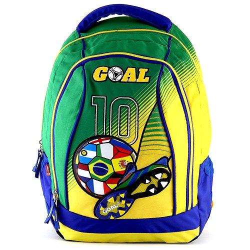 Goal Sac à Dos Enfants Grand Football 48 cm Multicolore (Jaune/Vert)