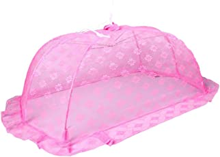 Baby Bucket Floral Design Mosquito Net for Baby's, Medium (Pink, EAGLE2/MK NET-2)