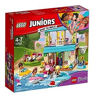 10763 LEGO Juniors Friends Stephanie's Lakeside House 215 Pieces Age 4+ and a FREE Lego Minifigure (random figure)