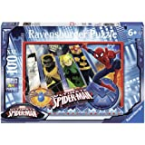 Spiderman - El equipo de Spiderman, puzzle de 100 piezas XXL (Ravensburger 10529 8)