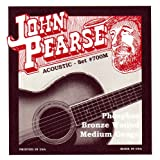 John Pearse 700M Jeu de cordes pour Guitare Phosphore Bronze Medium