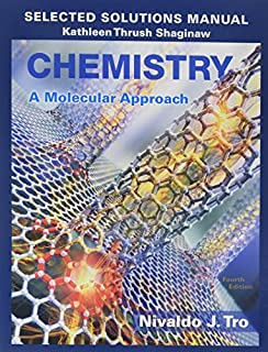 Selected Solutions Manual for Chemistry: A Molecular Approach (0134066286) | Amazon price tracker / tracking, Amazon price history charts, Amazon price watches, Amazon price drop alerts