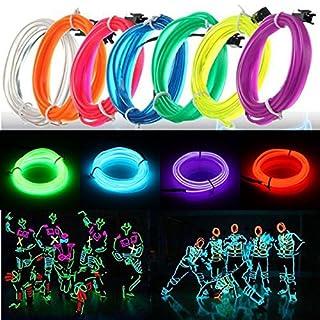 ADAALEN 3M führte flexibles EL Draht Neon Glühen Licht Seil Streifen 12V für Weihnachtsfeiertags Party