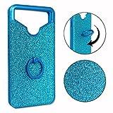 PH26 Archos 55 Helium Plus Coque arrière Bleue Effet Strass Diamant au Contours en...