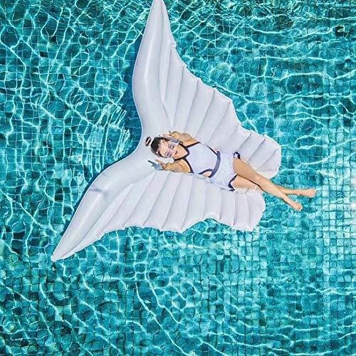Douup Engelsflügel Geformt Riesigen Aufblasbaren Pool Float, Großen Außenpool Aufblasbare Schwimmer Für Erwachsene, Spaß Strand Floaties Sommer Strand Spielzeug,White