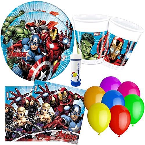 Procos, doriantrade Mighty Avengers - Juego de Accesorios para Fiesta (77 Piezas)...