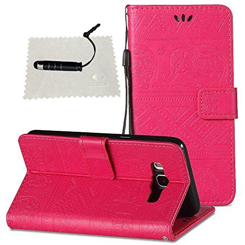 Hülle für Samsung Galaxy J5 (2016) J510 Leder Hülle, SchutzHülle Wallet Flip für Samsung Galaxy J5 (2016) J510, Case Glitter SchutzHülle Flip Wallet Case Hülle Magnet Leder Hülle für - Hot Pink Hot Pink Leder