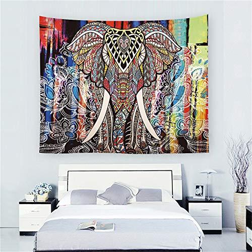 Comeyang Mandala copriletto, Dorm Decor Psychedelic Tapestry, Wall Hanging, Etnico Decorativo Queen Size arazzo,Home Arazzo Animali dell'acquerello 4 150 * 150 cm