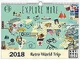 artboxONE Kalender 2018 Retro World Trip Wandkalender A3 Städte, Reise