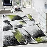 Alfombra De Diseño Para Sala De Estar Pelo Corto Verde Gris Crema Negro, Grösse:120x170 cm