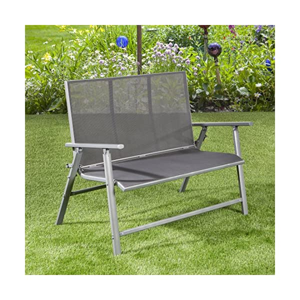 Swell Ultranatura Aluminium Patio Bench With Armrest Korfu Series Plus Gmtry Best Dining Table And Chair Ideas Images Gmtryco
