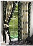 Kanha 2 Piece Polyester Floral Door Curt...