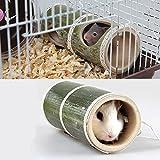 Gorgebuy Spieltunnel,Weidentunnel für Kleintiere für Kaninchen Meerschweinchen Hamster,Kleintiere Spielzeug,Durchmesser 8.5 cm,Länge 19 cm